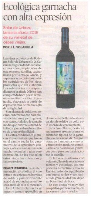critica gastronomica de Jose Luis Solanilla de Heraldo de Aragon