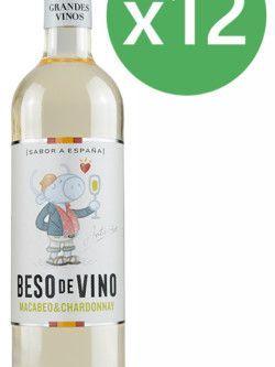 Beso de vino Macabeo & Chardonnay 2018 Caja