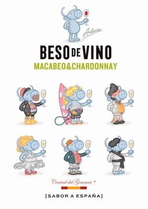 Beso de vino Macabeo & Chardonnay 2018 etiquetas