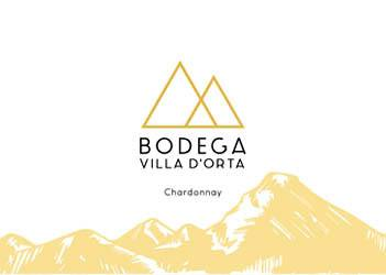 Etiqueta Vino Ecológico Blanco Chardonnay 2016 Villa D'Orta