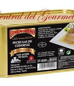Codornices en escabeche gourmet pechugas Lino Moreno