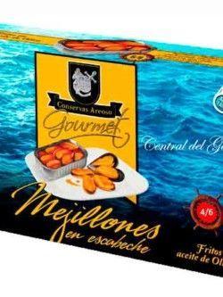 Conservas Areoso mejillones gourmet 4-6 escabeche Rías Gallegas