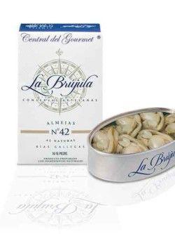 Almejas La Brújula al natural 14/16 Gourmet ,120