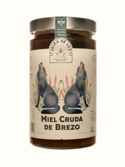 Miel de Brezo cruda artesana gourmet Jalea de Luz 950 gr