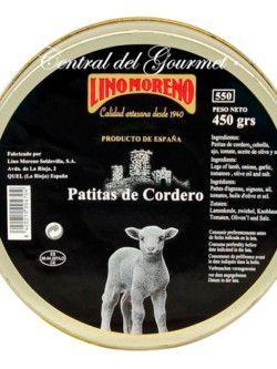 Patas de cordero guisadas artesanales Gourmet Lino Moreno