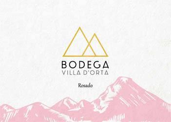 Etiqueta Vino Ecológico Rosado Villa D'Orta 2016