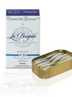 Sardinillas La Brújula 16/20 en Aceite de Oliva Gourmet