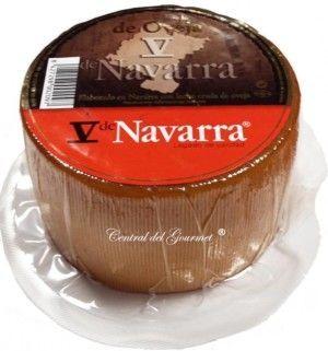 V de Navarra Queso entero leche cruda Oveja Ahumado