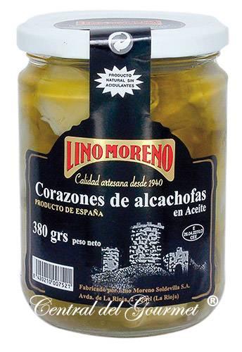 Corazones de Alcachofa Gourmet Aceite Lino Moreno
