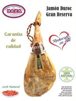 Jamon sin aditivos Duroc Gran Reserva Baza