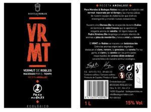 Bodegas Robles Vermut Ecologico gourmet VRMT etiqueta
