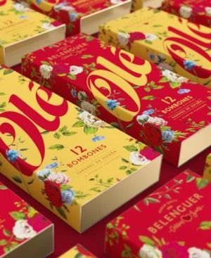 Caja Amarilla Bombones Gourmet sabores de españa