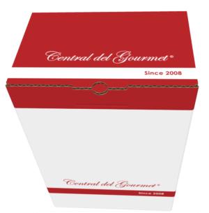 Caja de cartón de Regalo de Central del Gourmet