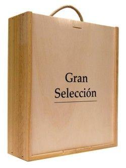 Caja madera 3 botellas Gran Seleccion 325x280x9 con asa