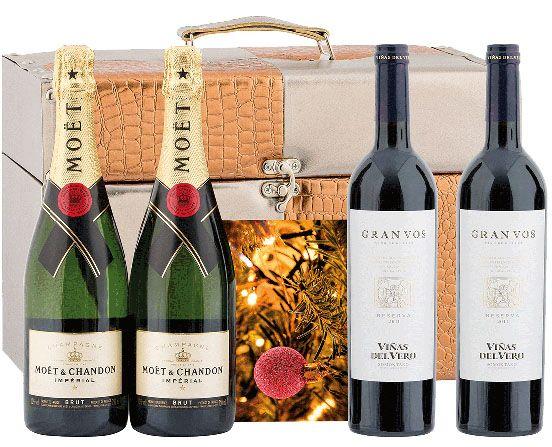 Cajas de vino Navidad Gourmet