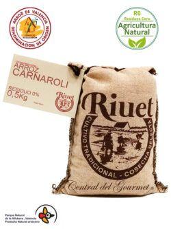 Arroz Carnaroli Gourmet Residuo Cero R0 Riuet
