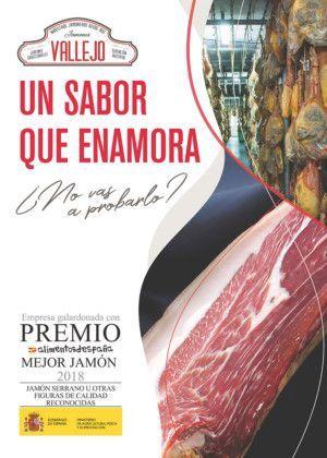 Premio Alimentos de España al Mejor Jamón, año 2018 en la modalidad Jamón Serrano