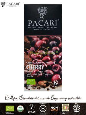 PACARI Chocolate Premium Ecológico con Cerezas
