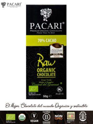 PACARI Chocolate Raw Premium Ecológico 70%