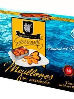 conservas areoso mejillones gourmet 6-8