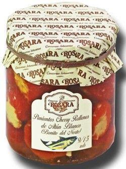 Conservas Rosara Pimientos Cherry rellenos Bonito Norte