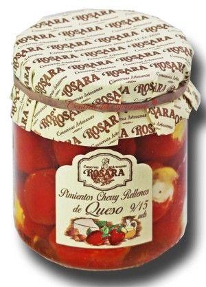 Conservas Rosara Pimientos Cherry rellenos Queso