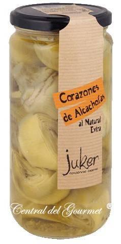 Conservas Juker Corazones de Alcachofas al Natural Extra , 720g