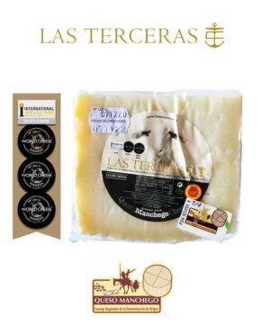 Las Terceras Queso Manchego Artesano Curado DOP leche cruda oveja