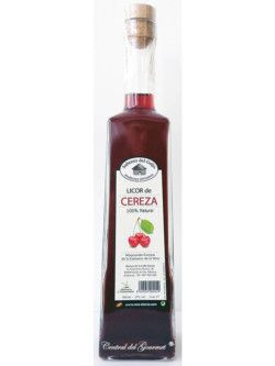 Licor de Cereza 100 % natural, artesano de Sabores del Guijo, botella 500ml