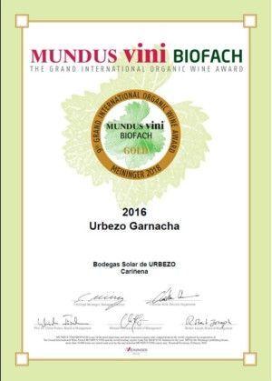 medalla oro mundo vinis biofach