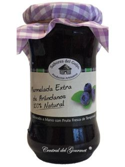 Mermelada de Arándanos extra artesana, 100% Natural, de Sabores del Guijo, tarro 400ml