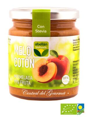 Mermelada de Melocoton ecologica 99% fruta sin azucar
