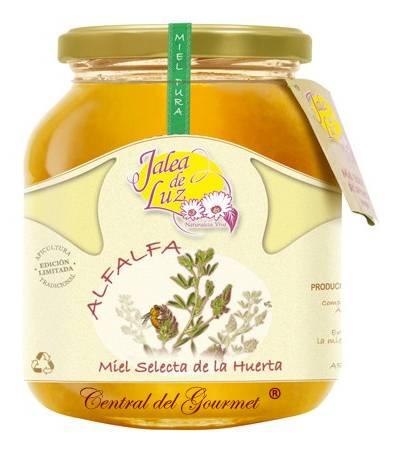 Miel de Alfalfa pura artesana Jalea de Luz, tarro 950gr