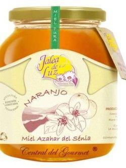 Miel de Azahar pura artesanal Jalea de Luz, tarro cristal 950g.