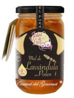 Miel de Lavanda con Polen Terapéutica ,pura artesana Jalea de Luz, tarro 500gr