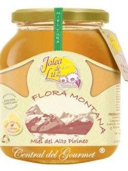 Miel de Flora Montaña pura artesana Jalea de Luz, tarro 950g.