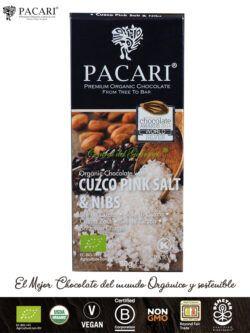 Chocolate PACARI Premium Ecológico Sal Cuzco & Nibs