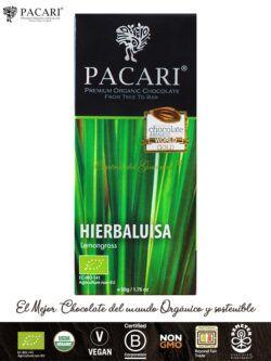 PACARI Chocolate Premium Ecológico con Hierba Luisa