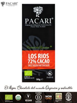 PACARI Chocolate Premium Ecológico 72% Los Ríos