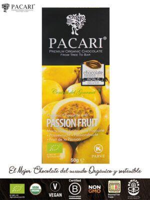 PACARI Chocolate Premium Ecológico con Maracuyá