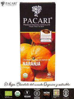 PACARI Chocolate Premium Ecológico con Naranja
