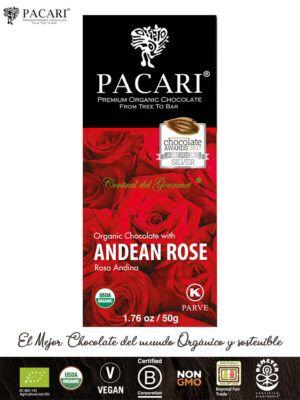 PACARI Chocolate Premium Ecológico esencia Rosa