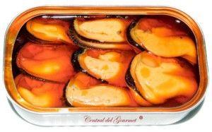 presentación mejillones gourmet 6/8 conservas areoso