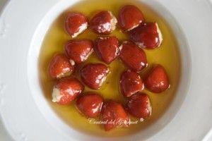 Conservas Rosara Pimientos Cherry relleno con Queso de vaca, tarro 250gr