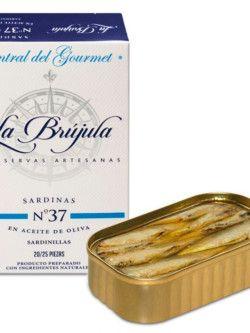 Sardinillas La Brújula 20/25 en Aceite de Oliva Gourmet