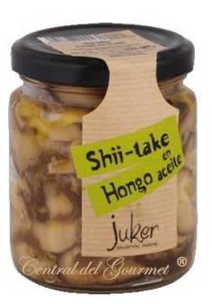 Shiitake Setas en aceite oliva virgen gourmet