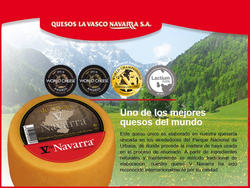 V de NAVARRA uno de los mejores quesos del mundo