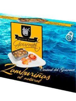 Zamburiñas Gourmet al natural Conservas Areoso Rías Gallegas